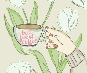 art, coffee, and draw image