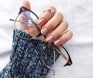 nails, glasses, and fashion image