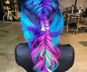 colored, dip dye, and hair image