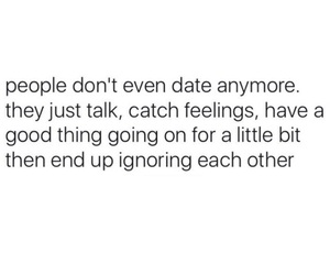 date, ignore, and talk image