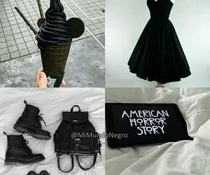 i love black, ❤, and yo amo el negro image