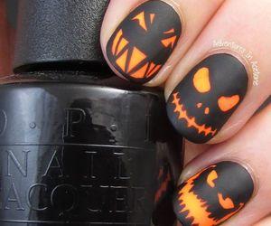 nails, Halloween, and pumpkin image