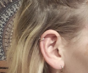 earring, helix, and lobe image
