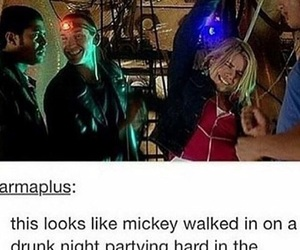 billie piper, captain jack harkness, and dance image