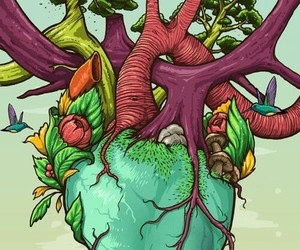 heart, nature, and art image