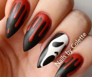 Halloween, nails, and scream image