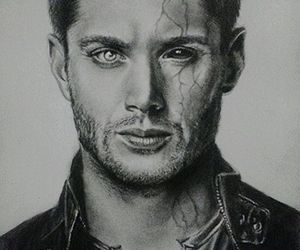 dean winchester, drawing, and supernatural image