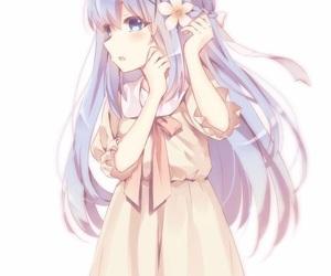 anime girl, blue eyes, and blue hair image