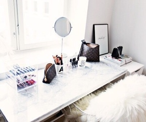 beauty, desk, and fashion image