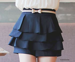bow, look, and skirt image