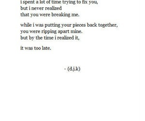 broken, love, and quotes image