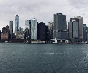 ferry, newyork, and skyline image
