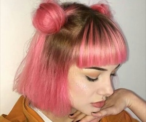 girl, pink, and makeup image