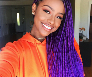 braid, purple, and melanin image