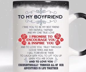boyfriend, gift, and mug image