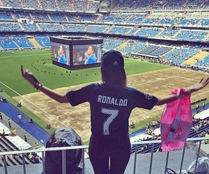 real madrid, football, and girl image