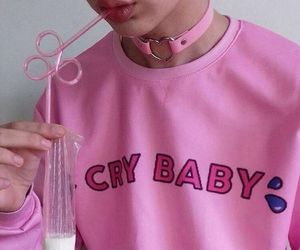 pink, cry baby, and aesthetic image