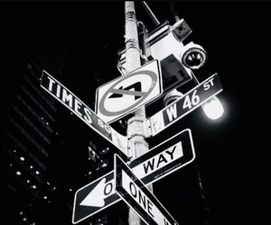 black and white, photography, and signs image