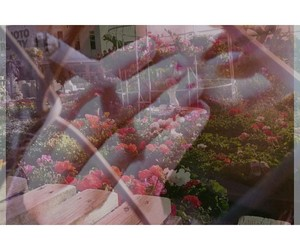 cigarette, doubleexposure, and flowers image