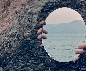 alternative, mirror, and waves image