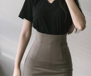 kfashion, mini skirt, and top image