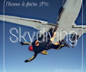 someday, bucket list, and parachute image