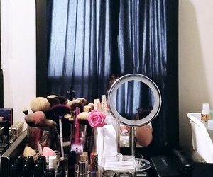interior, makeup, and mirror image