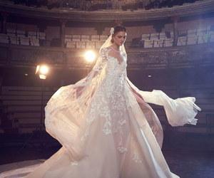 dress, elie saab, and wedding image