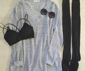 black, bra, and grey image