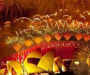 fireworks, new year, and Sydney image