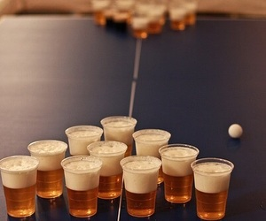 beer, beer pong, and photography image