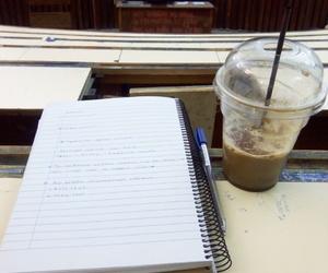 books, coffee, and fall image
