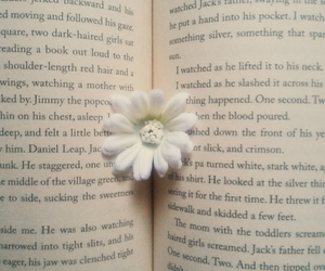 aesthetic, bookworm, and flower image