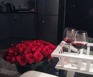roses and wine image