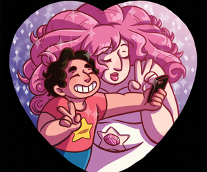 rose quartz, steven, and steven universe image
