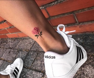 adidas, fashion, and flowers image
