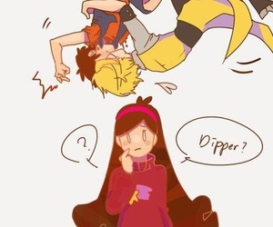 bipper, dipper pines, and bill cipher image