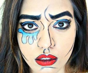 cartoon, face, and makeup image