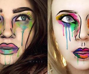 cartoon, girl, and makeup image