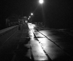 black and white, street lights, and new zealand image