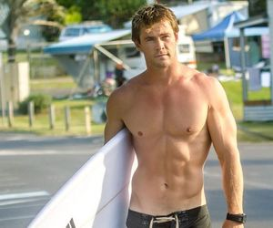 chris hemsworth, surf, and Hot image