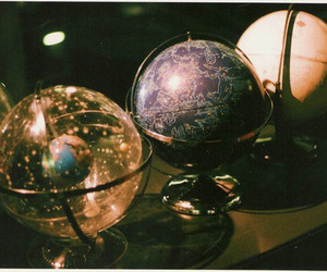 globe, vintage, and planet image