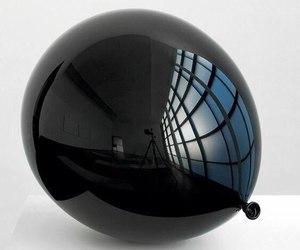 art, black, and balloon image