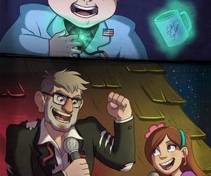 gravity falls, stan, and mabel image