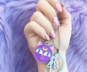 pastel, purple, and sailor moon image