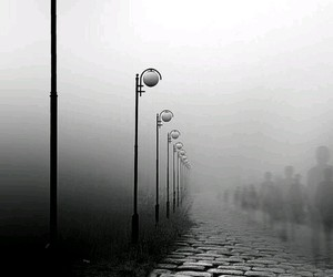 b&w, black&white, and lamps image