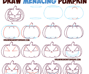 drawings, scary, and Halloween image