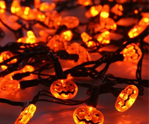Halloween, light, and pumpkin image