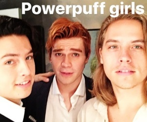 dylan sprouse, cole sprouse, and kj apa image