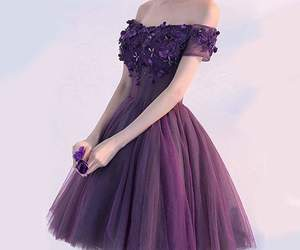 dress, girl, and purple image